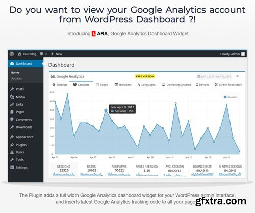 Lara's Google Analytics - Pro v3.3.2 - Google Analytics Widget For Wordpress