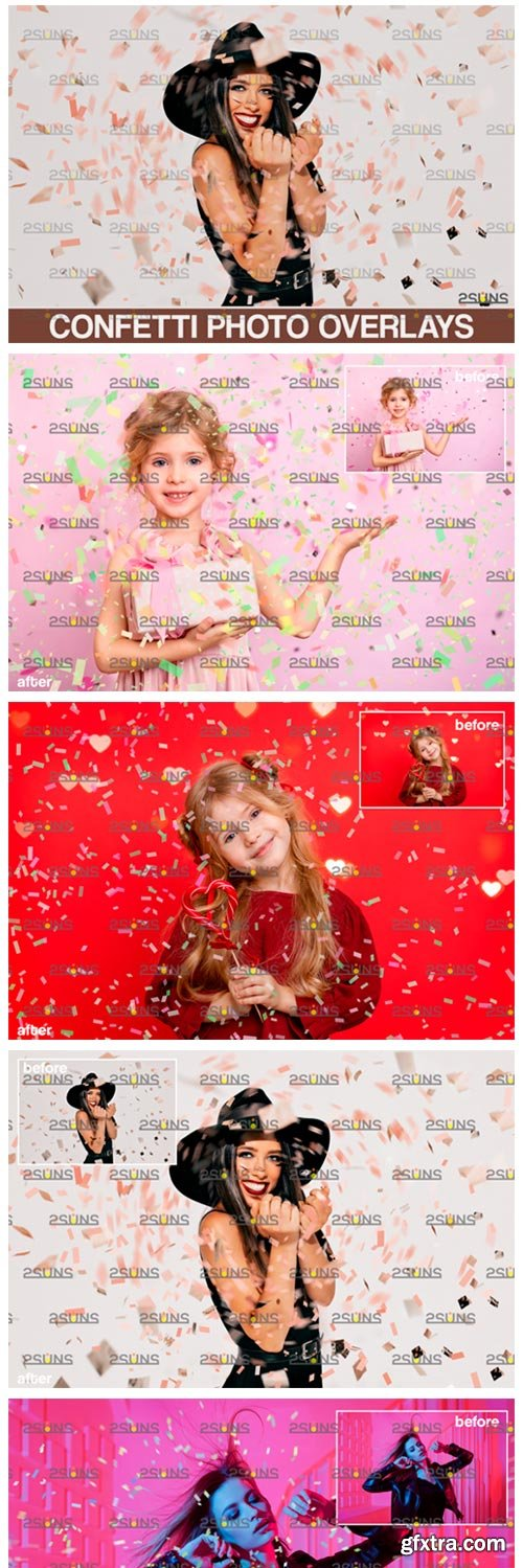 Confetti Overlay Blowing Photo Overlay 5545103