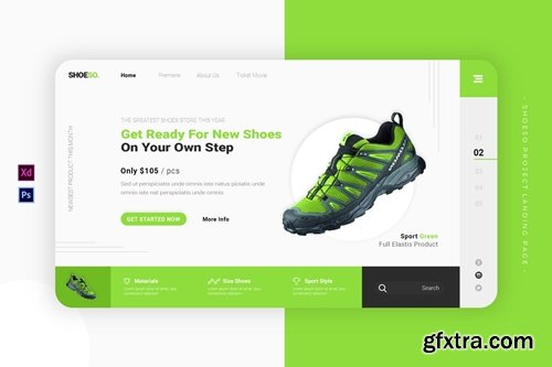 Shoeso Project | Landing Page