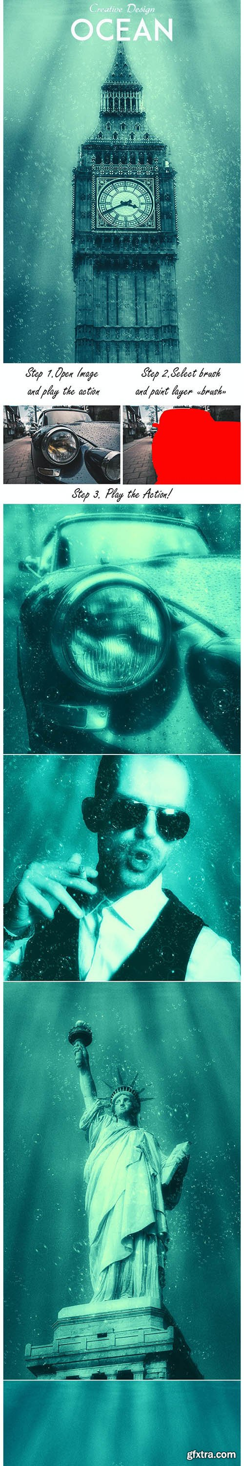GraphicRiver - Ocean Photoshop Action 27925111