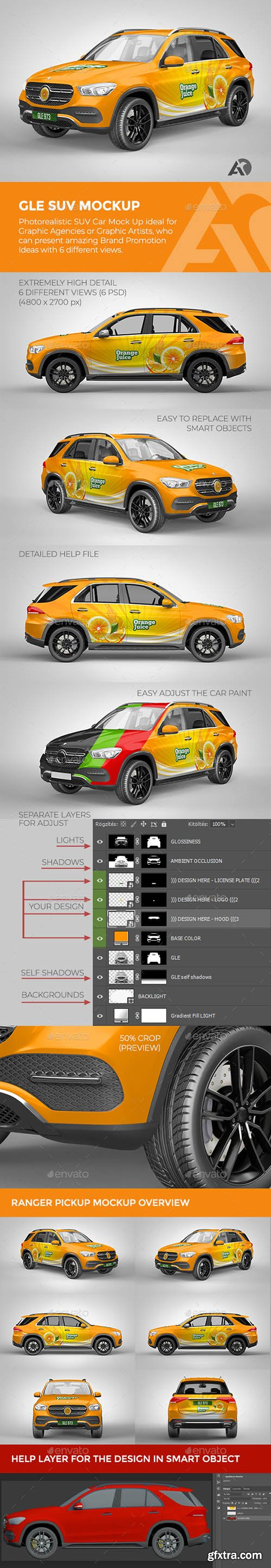 GraphicRiver - GLE SUV Mock Up for Brand Promotions 27936404