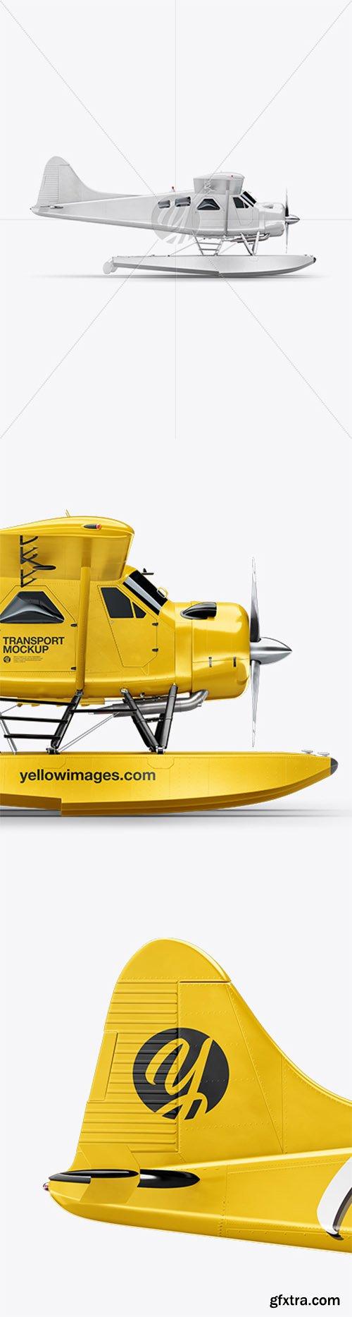 Seaplane Mockup - Side View 32716