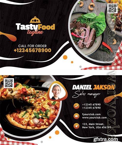 Tasty Food Restaurant Business Card PSD