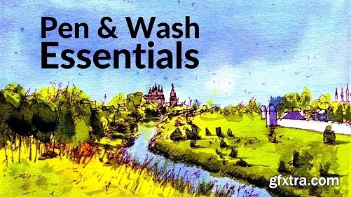 Watercolour Painting - Pen and Wash Sketching ESSENTIALS [Russian Landscapes Part 1]