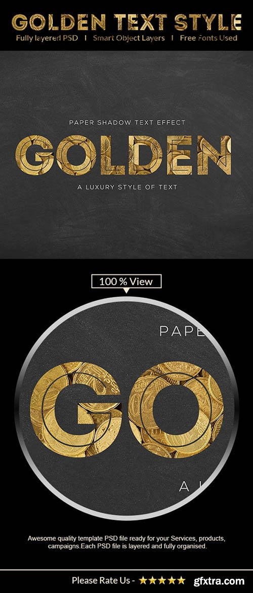 GraphicRiver - Golden Text Effect 28076077