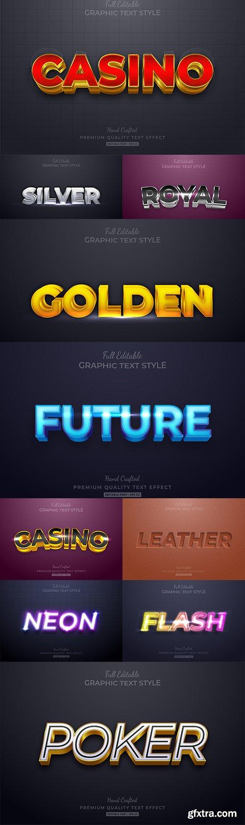 Editable font effect text collection illustration design 205
