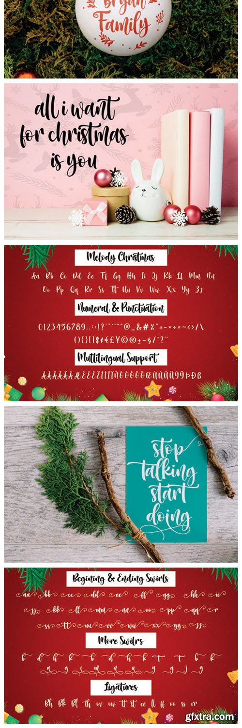 Melody Christmas Font