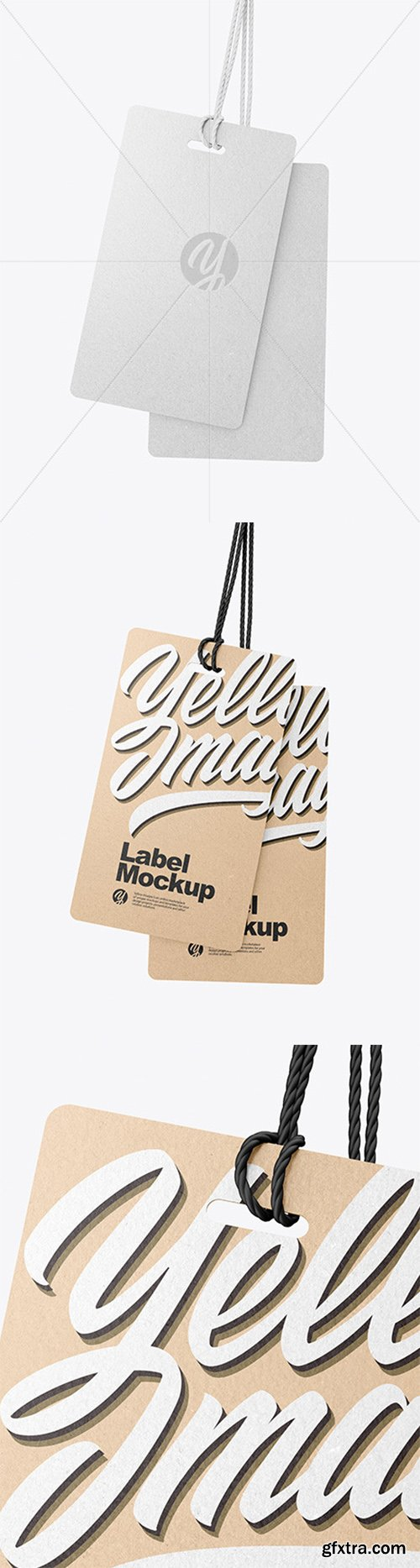 Two Kraft Labels With Rope Mockup 60831