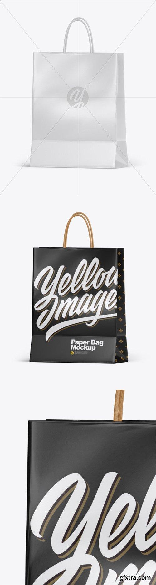 Glossy Shopping Bag w/ Rope Handles Mockup 55643