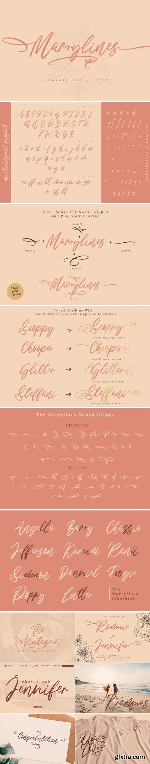 Marrylines Font