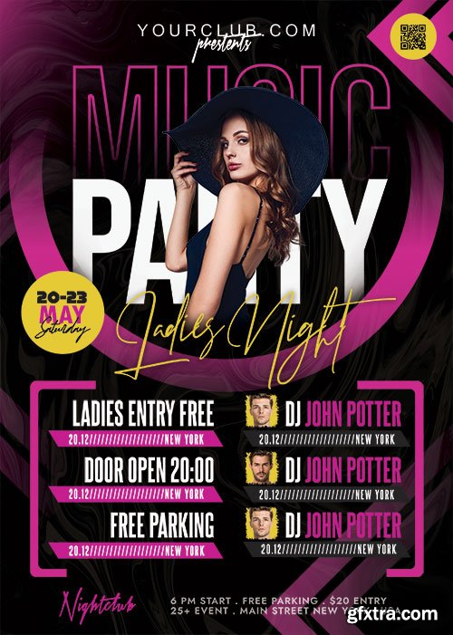 Club Party Flyer PSD Template