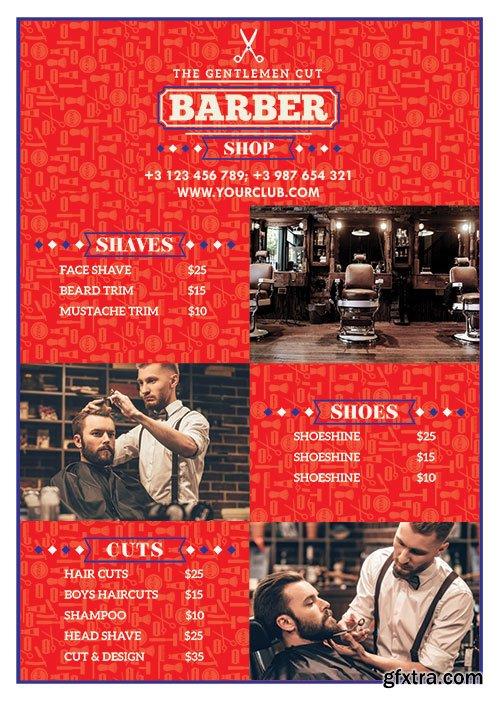 Barber shop flyer psd template