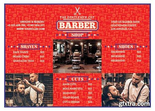 Barber shop flyer psd template vol2
