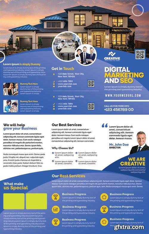 Corporate Brochure Design PSD Template