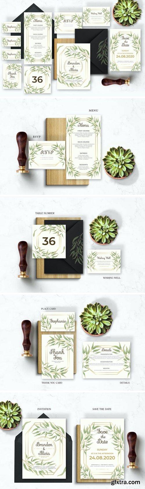 Light Floral - Wedding Invitation