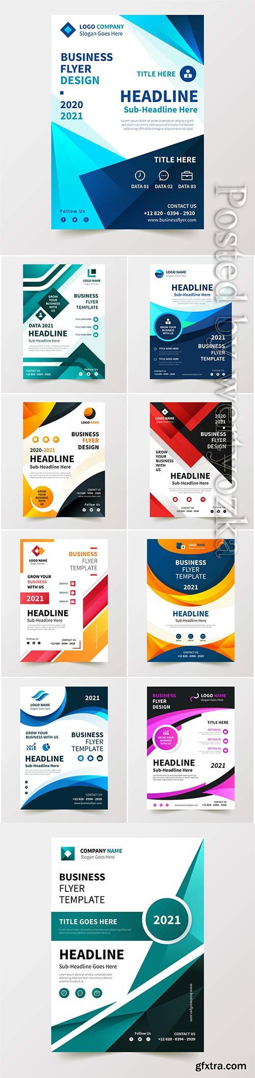 Business flyer in vector template