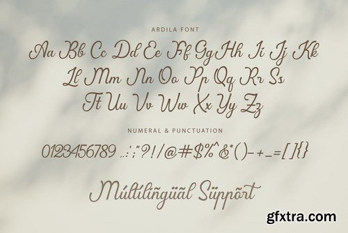 Ardila Lovely Font