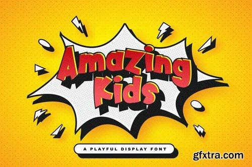 Amazing Kids - Playful Display Font