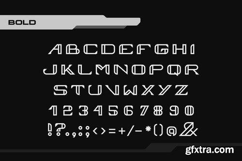 Vortex Technology Sci-fi Future Font