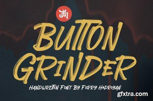 Button Grinder - Display Handwritten Font