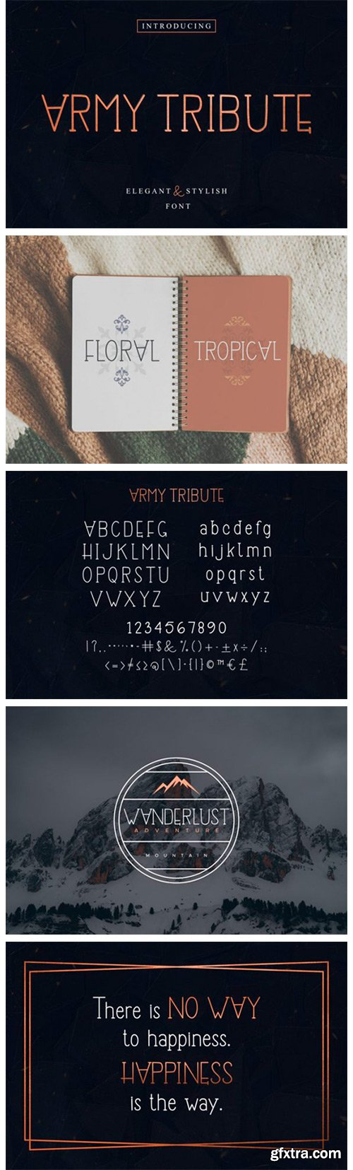 Army Tribute Font