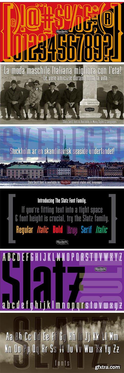 Slatz Font Family