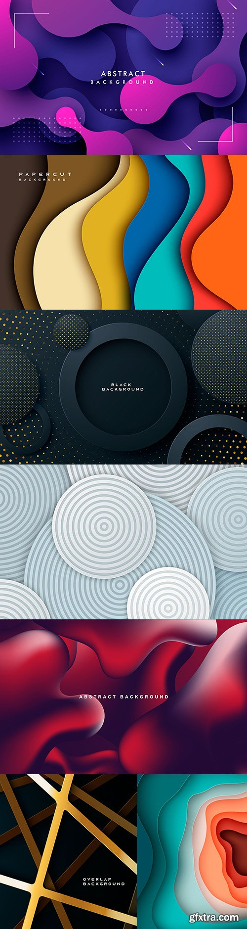 Color abstract dynamic form design background