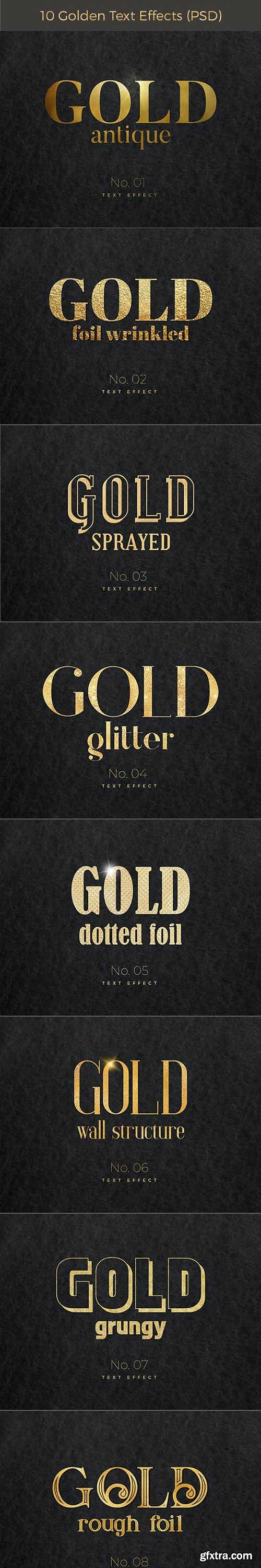 GraphicRiver - 10 Golden Text Effects 28156153