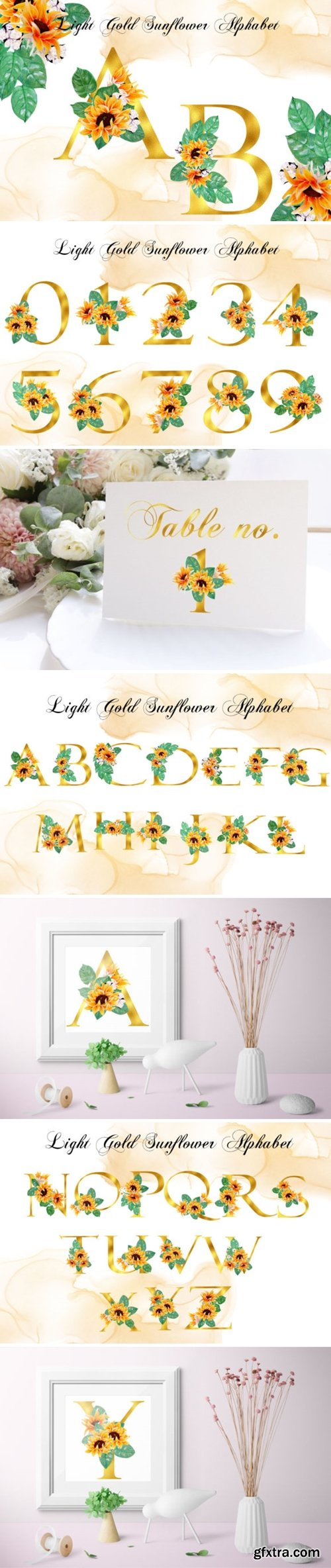 Pack of Sunshine- Light Gold Alphabet 5613365