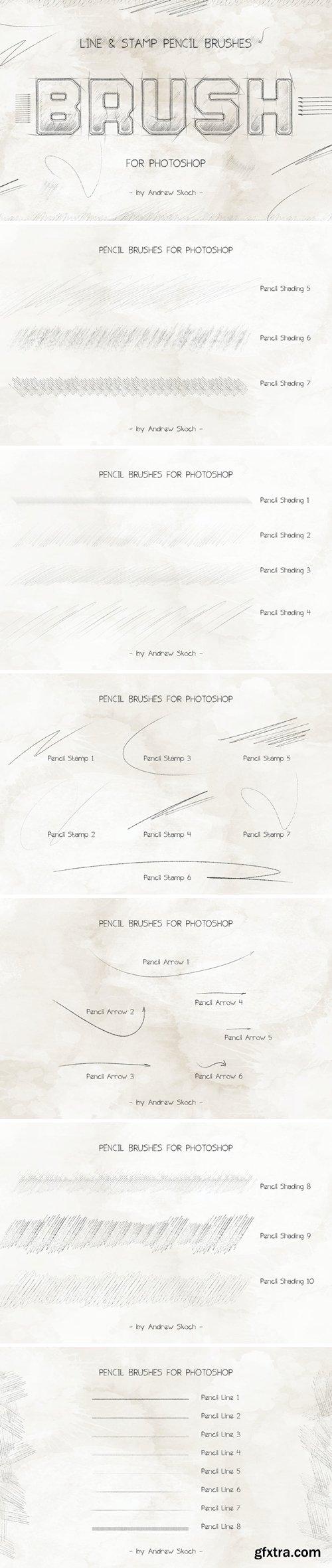 Pencil Brushes Photoshop