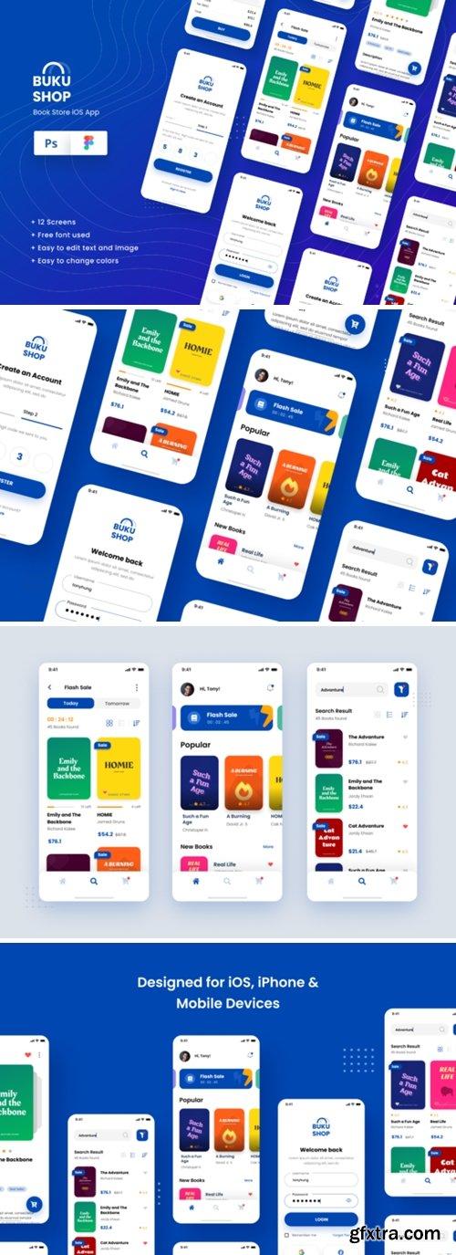 BukuShop - Book Store IOS App Design 5615521
