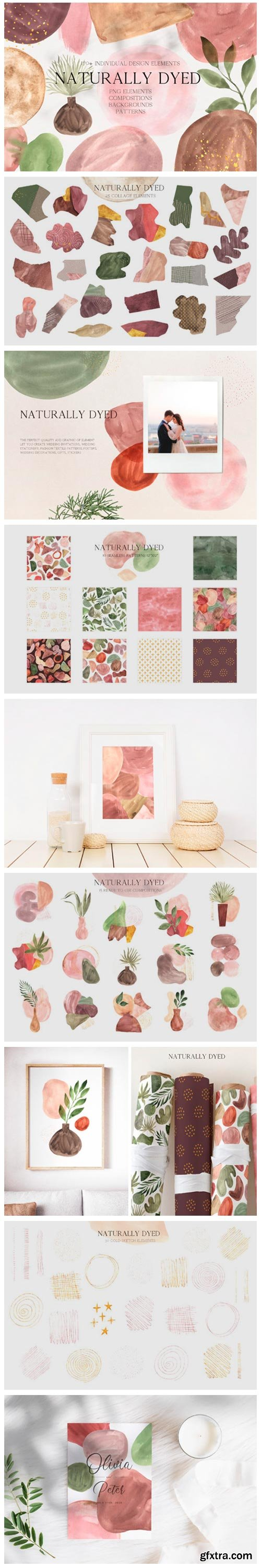 Abstract Modern Watercolor Bundle 5590210