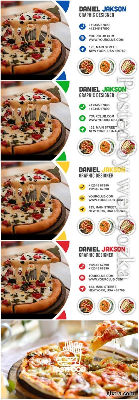 Fast Food Restaurant Business Card Design