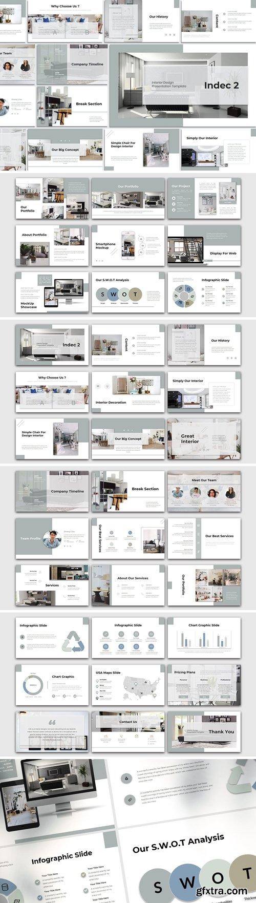 Indec 2 - Interior Design Powerpoint, Keynote, Googleslide Template