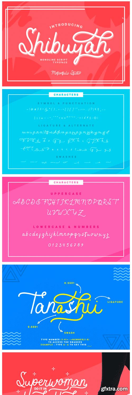 Shibuyah Font