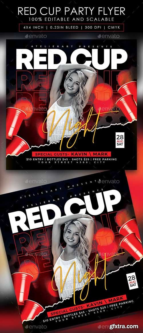 GraphicRiver - Red Cup Party Flyer 28430298