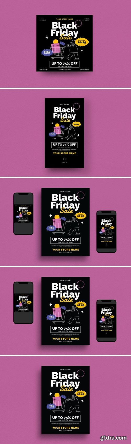 Black Friday Event Flyer Set