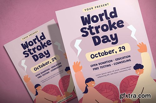 World Stroke Day - Flyer Template