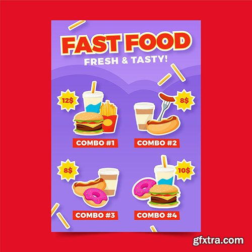 Fast Food Combo Meals Poster