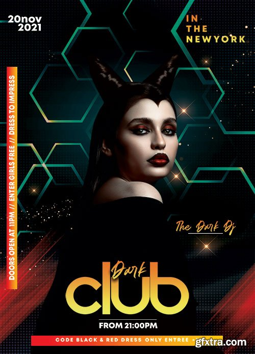 Dark Night Club PSD Flyer Template