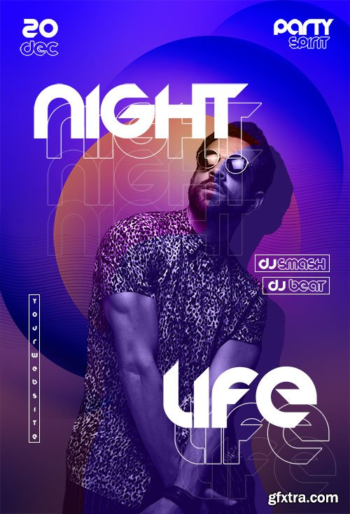 Night Life Flyer Template PSD