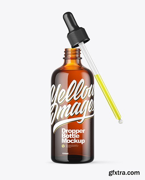 Amber Dropper Bottle Mockup 67574