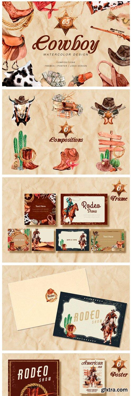 The Story of Cowboy Hero Watercolors Set 5637178