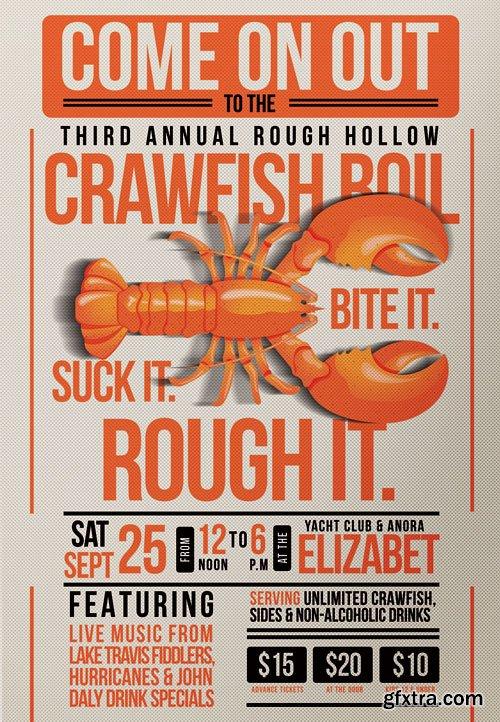 Crawfish fest - Premium flyer psd template