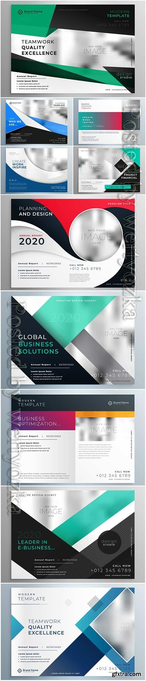 Vector business brochure presentation template