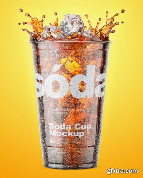 Plastic Cup With Cola Splash 67613