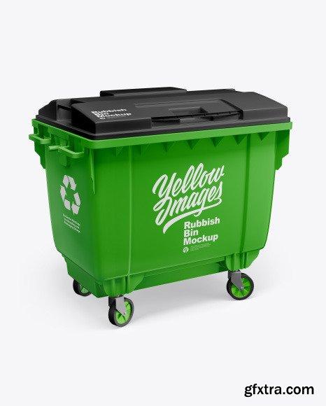 Plastic Glossy Rubbish Bin Mockup 61992