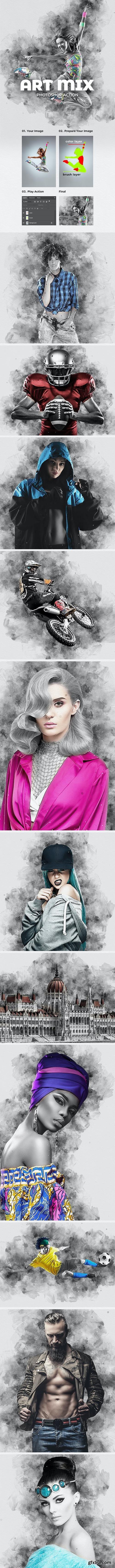 GraphicRiver - Art Mix Photoshop Action 28178955