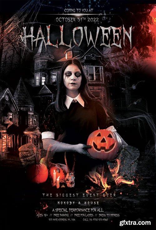 Vampire Weekend Halloween Party - Premium flyer psd template