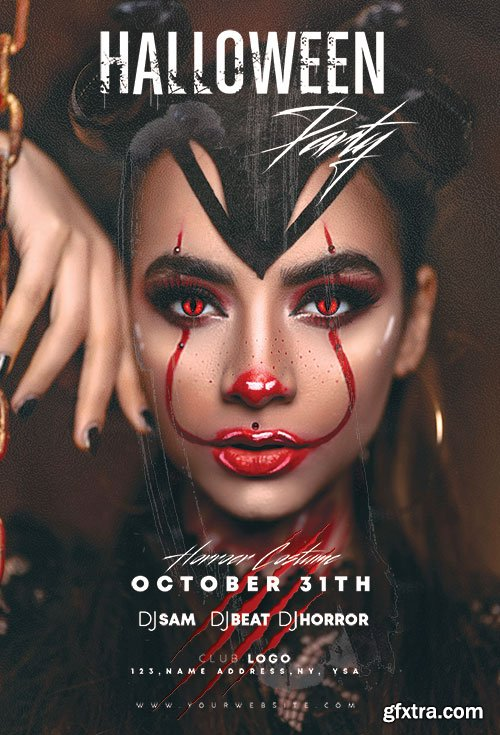 Halloween Party - Premium flyer psd template